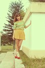 Cream-forever21-socks-chartreuse-vintage-top-red-people-are-people-heels