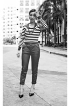 hk closet vertical stripes top - Zara pants