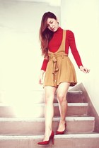 Forever21 Mustard jumper - Zara  Red Turtle neck top