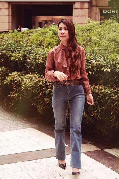HK Vintage top - M&S wide leg pants