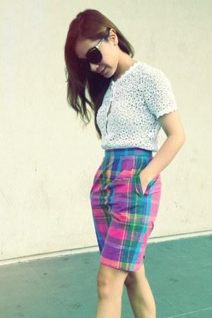bubble gum vintage skirt - violet vintage skirt - yellow vintage skirt