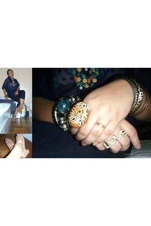 leopard print bench bracelet - metallic Kimi bracelet - sheer Tomato top