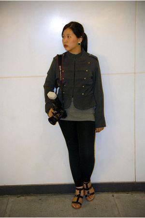 gray Una Rosa jacket - gray Old Navy top