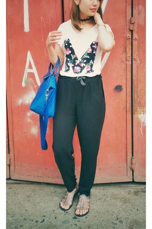 m detailed divisoria top - black harem bought online pants - Celine sandals