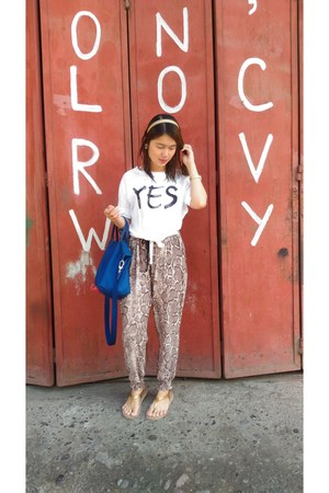 yes divisoria top - snakeskin gifted pants