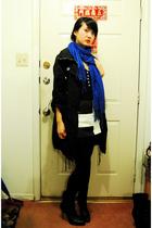 H&M jacket - Street Vendor scarf - Lucky Brand top - calvin klein boots