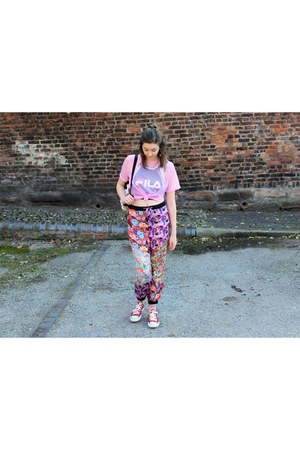 black fila top - bubble gum style moi shirt - bubble gum the ragged priest pants