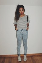 sky blue acid wash Urban Outfitters jeans