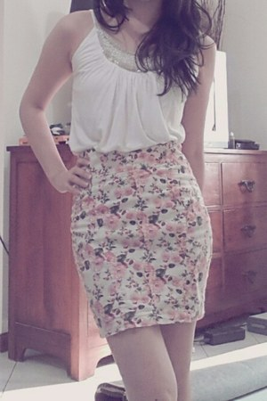 floral print Zara skirt - beaded Forever 21 top