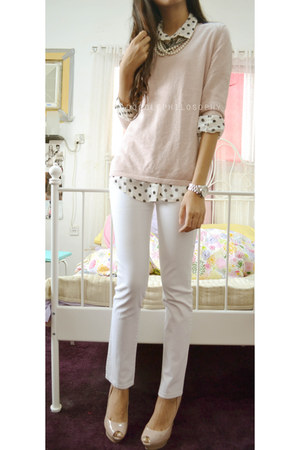 light pink essence sweater