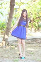 belt - dress - heels - watch