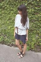 H&M sunglasses - H&M dress - thrifted sweater