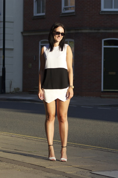 Zara shorts - Zara top - Zara heels
