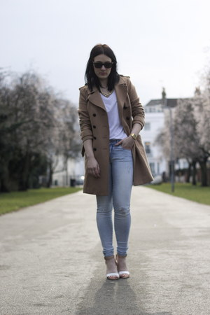 Zara jeans - H&amp;M coat - Zara heels - Oysho t-shirt