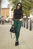 Zara boots - Zara dress - H&M jeans