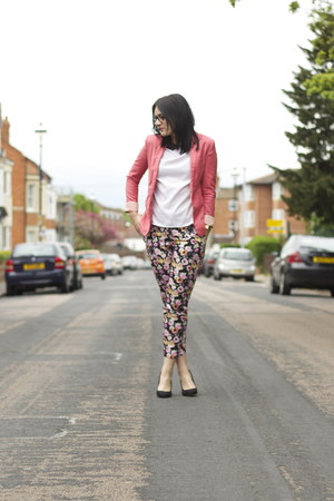 Bershka blazer - Zara heels - H&amp;M pants - Zara top