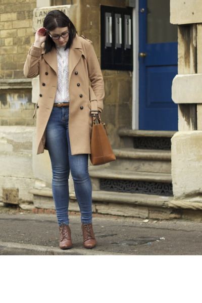 Zara jeans - H&M coat - Zara bag - River Island wedges - Zara blouse