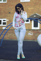 H&M jumper - Zara jeans - H&M heels