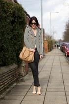 black Topshop jeans - Zara jacket