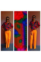 orange Zara pants