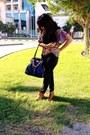 Mustard-ankle-boots-bershka-boots-black-plain-black-gap-scarf-blue-h-m-bag