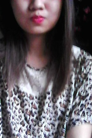 animal print thrifted top