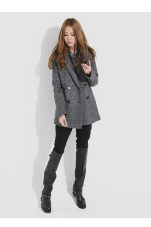 Taobao leggings - Taobao coat - Taobao boots