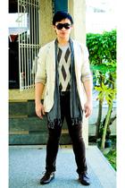 beige Dean and Trent blazer - beige Perry Ellis sweater - brown Zara pants - bro