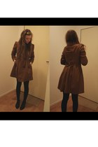 dark brown 2hand coat - black DinSko shoes