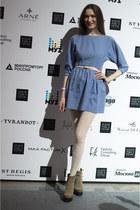 tan Ekonika boots - light purple idaLaida dress