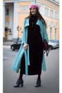 Crimson-idalaida-dress-turquoise-blue-idalaida-coat