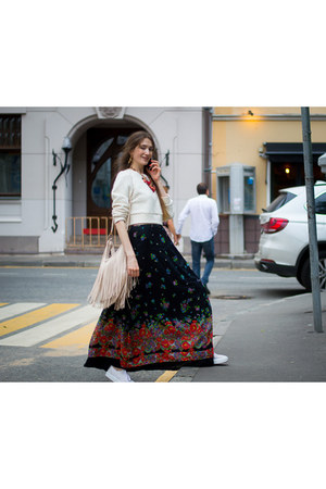 black idaLaida skirt - white asos jumper