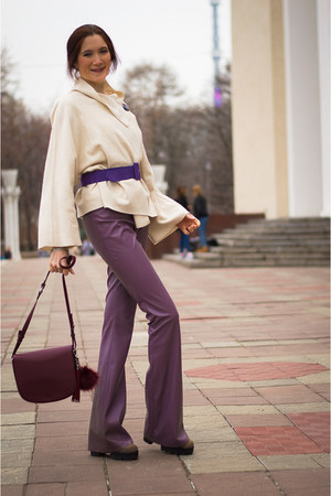 off white idaLaida jacket - crimson idaLaida bag - amethyst idaLaida pants
