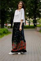 white idaLaida blouse - black idaLaida skirt