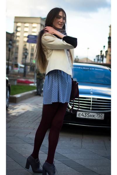 violet idaLaida dress - white idaLaida jacket