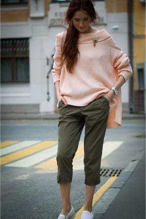 peach asos jumper - army green idaLaida pants