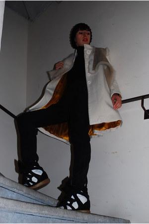 camel Yves Salomon jacket - white Les Petites coat - black Zara jumper