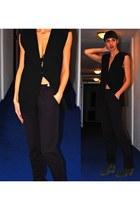 gray Isabel Marant boots - crimson Roseanna pants - black Avelon vest