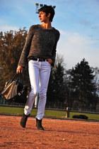 gray Isabel Marant boots - white Isabel Marant jeans - black Givenchy bag