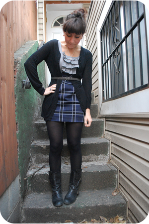 black Blowfish boots - blue kensiegirl dress