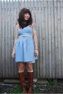 Blue-bb-dakota-dress-brown-dexter-boots