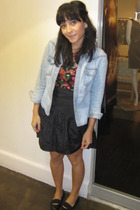 Charlotte Russe shirt - H&M t-shirt - kensie skirt