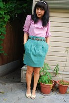 H&M skirt - vintage top - vintage belt