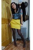 Forever21 skirt - kensie top - shoes