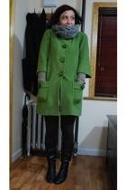 kensiegirl coat - me scarf - H&M tights - Aldo boots
