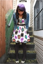 kensie dress - UO belt - H & M tights - winners shoes