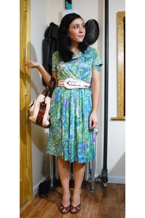 vintage dress - cynthia rowley purse