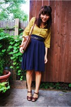 American Apparel skirt - thifted blouse - thifted purse