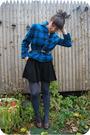 Blue-pendeton-blazer-black-emporio-armani-shorts