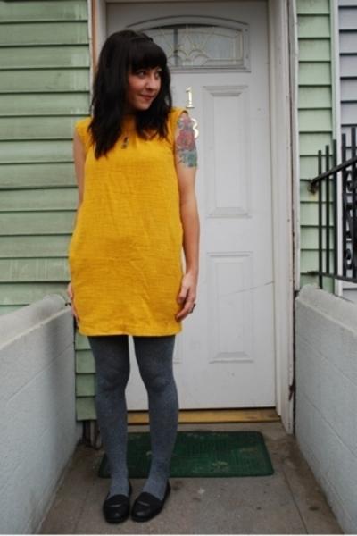 Yellow Burlap sac dress